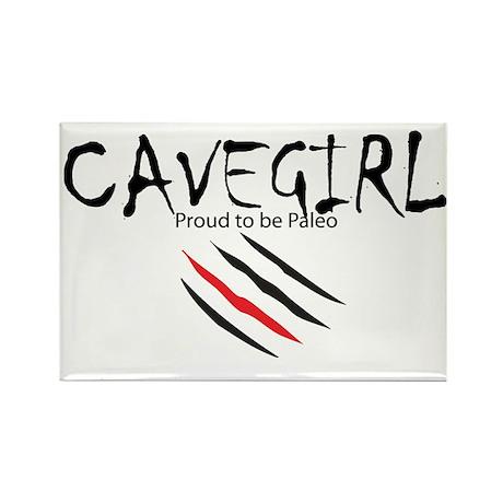 Cavegirl Rectangle Magnet