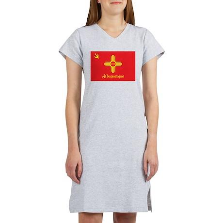 Albuquerque Flag Women's Nightshirt