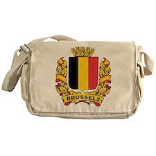 Stylized Brussels Crest Messenger Bag