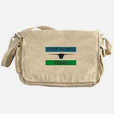 Fort Worth Flag Messenger Bag