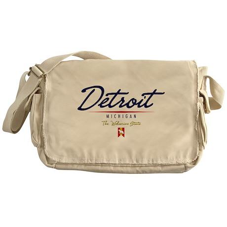 Detroit Script Messenger Bag