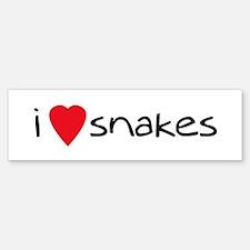 i love snakes Bumper Bumper Bumper Sticker