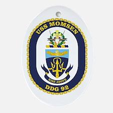 USS Momsen DDG 92 Oval Ornament
