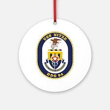 USS Nitze DDG 94 Ornament (Round)