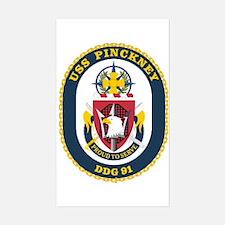 USS Pinckney DDG 91 Rectangle Decal