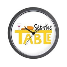 Set the Table Wall Clock