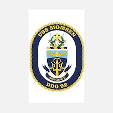 USS Momsen DDG 92 Rectangle Decal