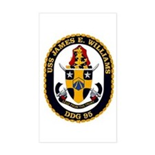 USS James E Williams DDG 95 Rectangle Decal