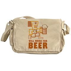 Will Work For Beer Messenger Bag