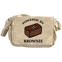 Powered By Brownie Messenger Bag
