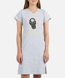 Powered By Ice Cream Women's Nightshirt