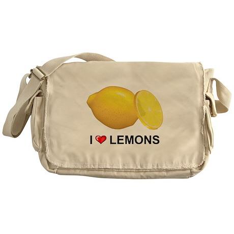 I Love Lemons Messenger Bag