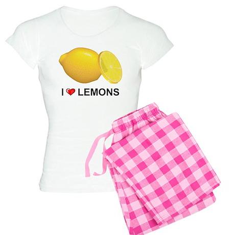 I Love Lemons Women's Light Pajamas