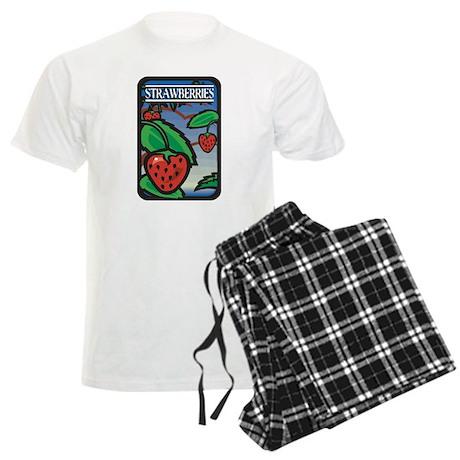 Strawberries Men's Light Pajamas