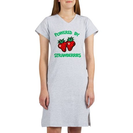 Powered By Strawberries Women's Nightshirt