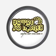 You're Money Baby Wall Clock