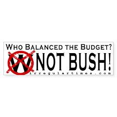 Who Balanced the Budget? Bumper Bumper Sticker