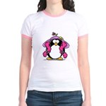 Diva penguin Jr. Ringer T-Shirt
