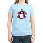 Diva penguin Women's Pink T-Shirt