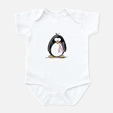 Breast Cancer penguin Infant Creeper