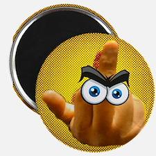 "Yellow ""The Bird"" 2.25"" Magnet (10 pack)"