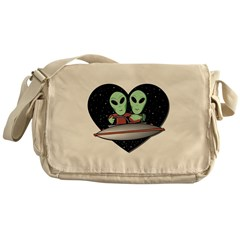 Aliens In Love Messenger Bag