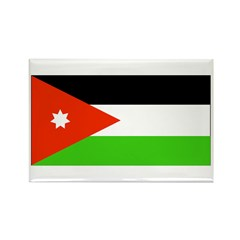 Jordan Jordanian Blank Flag Rectangle Magnet (10 p