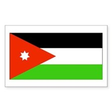 Jordan Jordanian Blank Flag Rectangle Decal
