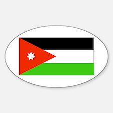 Jordan Jordanian Blank Flag Oval Decal