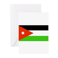 Jordan Jordanian Blank Flag Greeting Cards (Packag