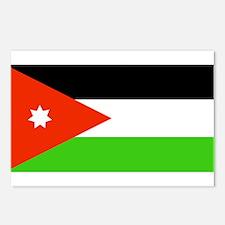 Jordan Jordanian Blank Flag Postcards (Package of