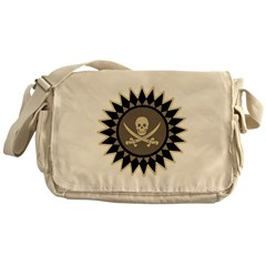 Stylized Pirate Symbol Messenger Bag