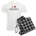 I Love Pirates Men's Light Pajamas