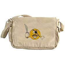 Pirate Smiley Messenger Bag