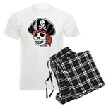Skeleton Pirate Men's Light Pajamas