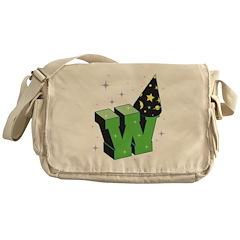 W For Wizard Messenger Bag