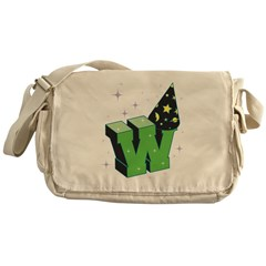 W For Wizard Messenger Bag
