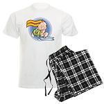 Cute Aquarius Men's Light Pajamas