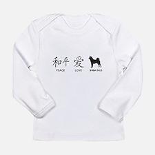 Japanese Peace, Love, Shibas Long Sleeve Infant T-