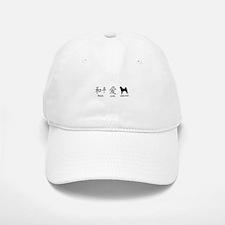 Japanese Peace, Love, Shibas Baseball Baseball Cap