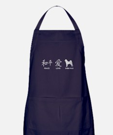 Japanese Peace, Love, Shibas Apron (dark)