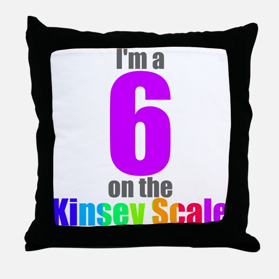 Kinsey Scale 6 Throw Pillow