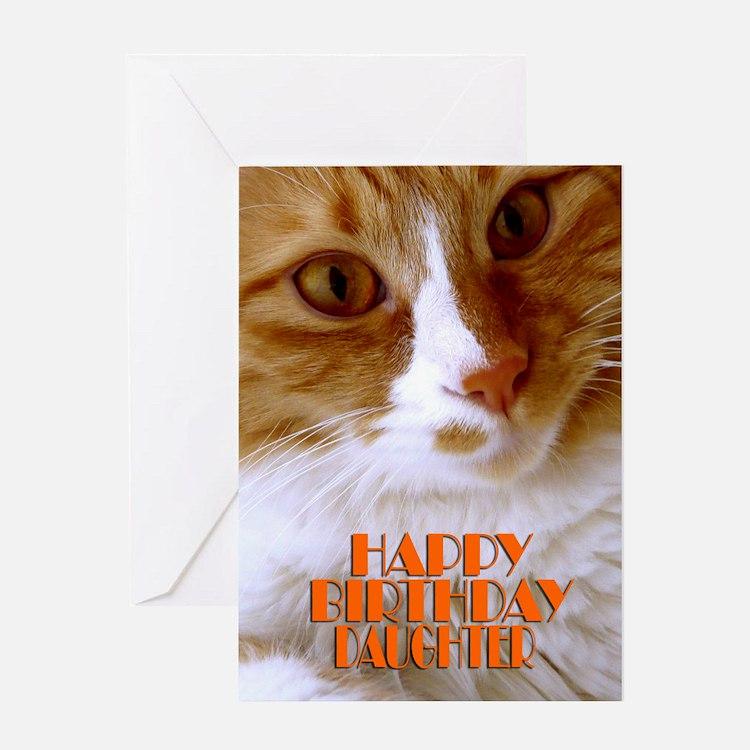 Happy Birthday Daughter Sweet Cat Greeting Card