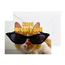 Happy Mother's Day - Cool Cat Greeting Card
