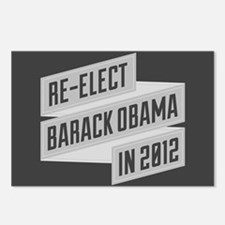 Angular Re-Elect Obama Banner Postcards (Package o