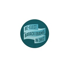 Bendy Re-Elect Obama Banneris Mini Button (10 pack