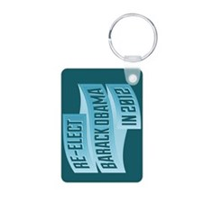 Bendy Re-Elect Obama Banneris Keychains