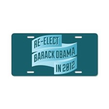 Bendy Re-Elect Obama Banneris Aluminum License Pla