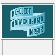 Bendy Re-Elect Obama Banneris Yard Sign