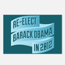 Bendy Re-Elect Obama Banneris Postcards (Package o